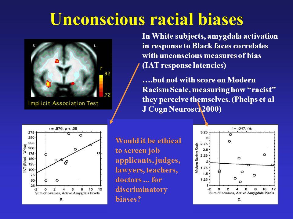 Unconscious racial biases