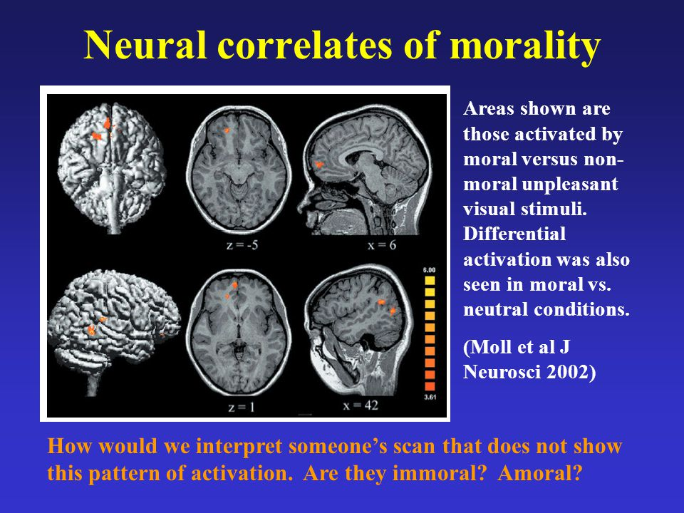 Neural correlates of morality