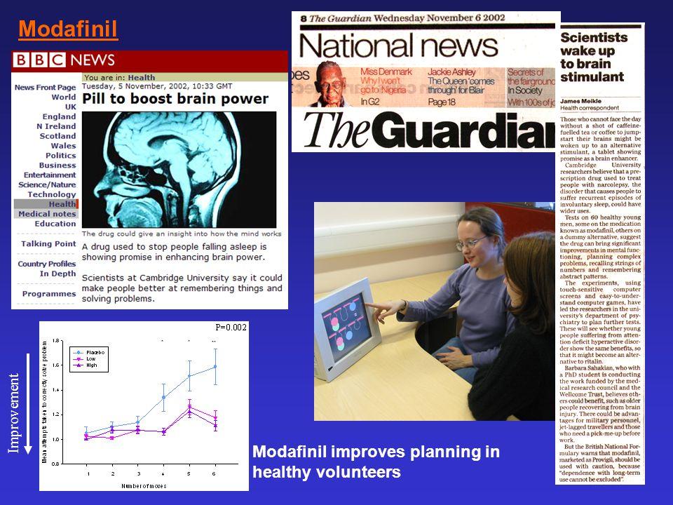 Modafinil Modafinil improves planning in healthy volunteers
