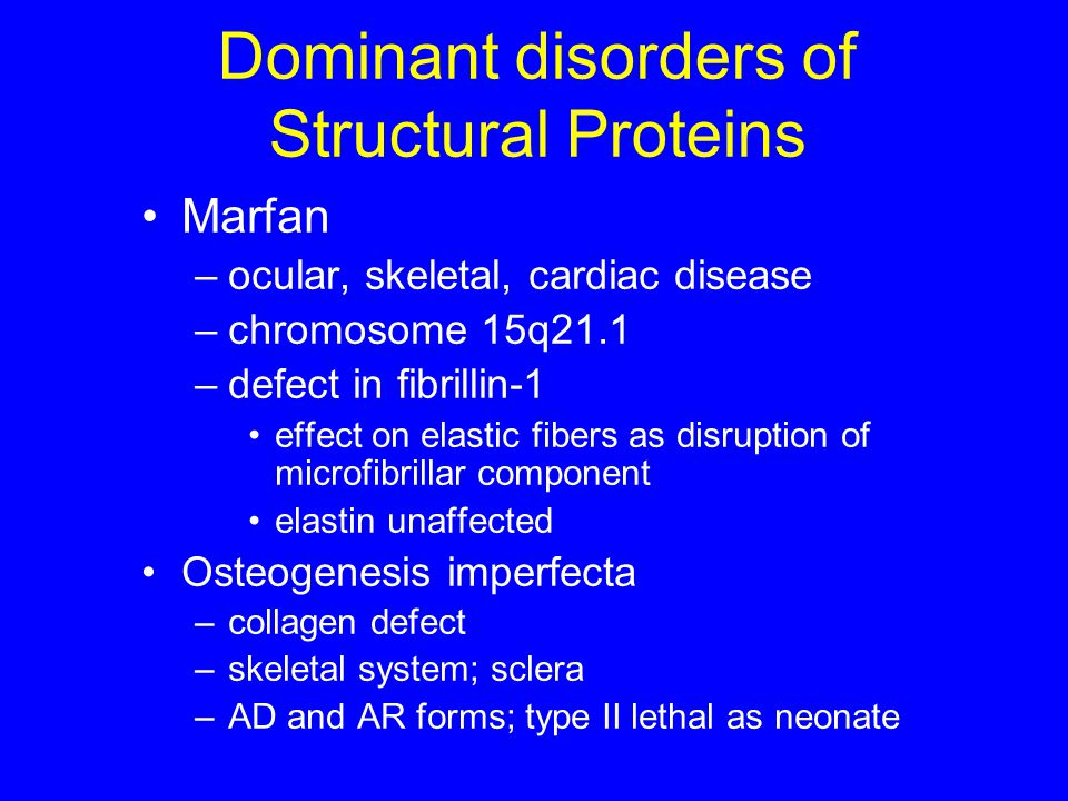 Dominant disorders of Structural Proteins
