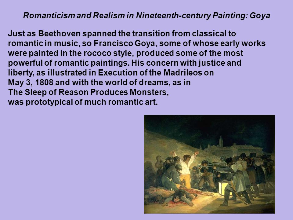 Romanticism and Realism in Nineteenth-century Painting: Goya