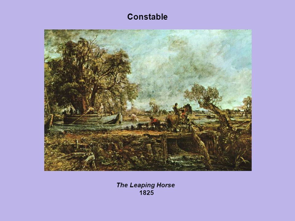 Constable The Leaping Horse 1825