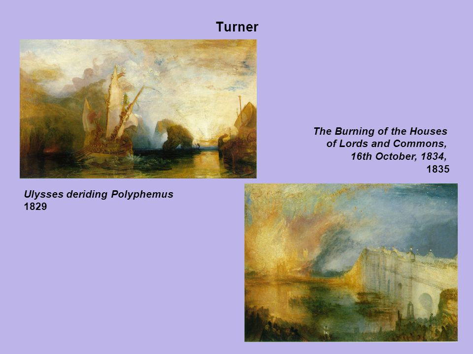 Turner The Burning of the Houses of Lords and Commons,