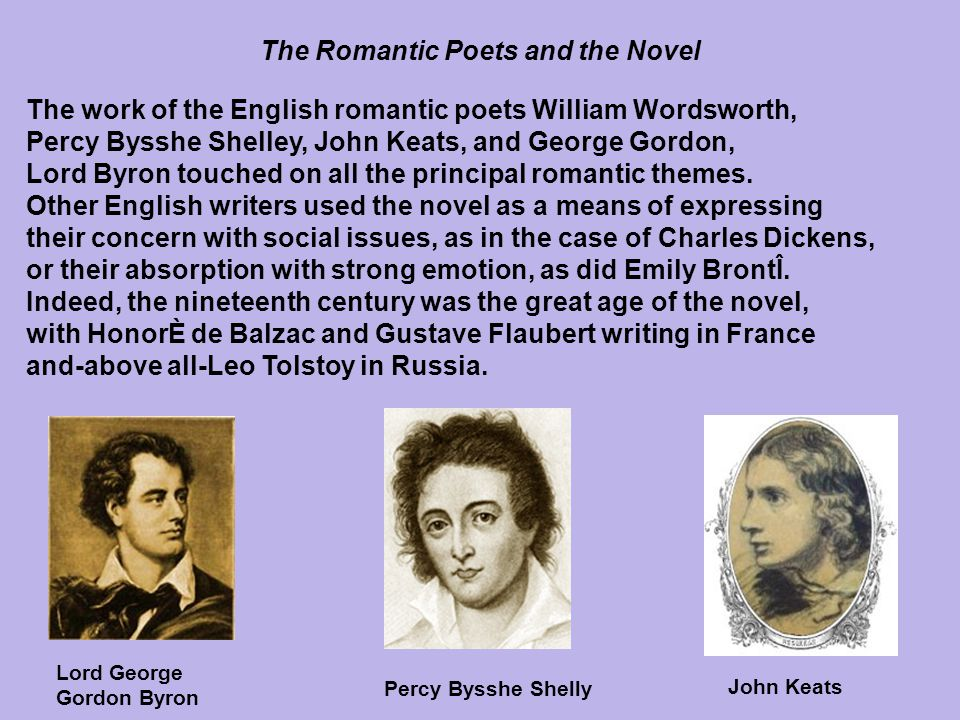 The Romantic Poets and the Novel