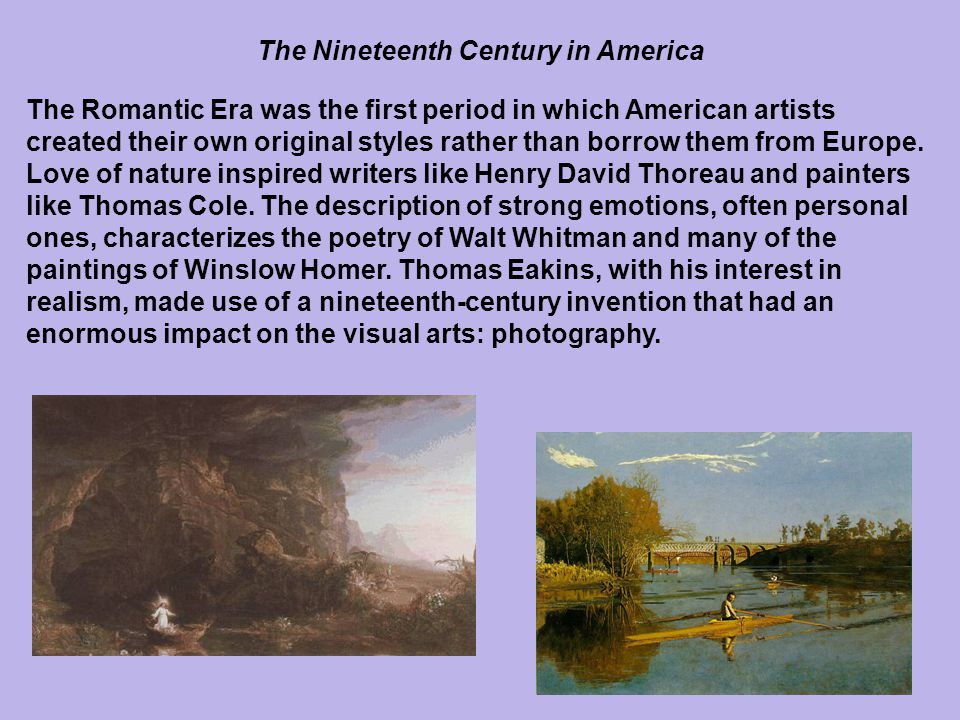 The Nineteenth Century in America