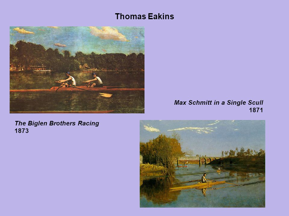 Thomas Eakins Max Schmitt in a Single Scull 1871