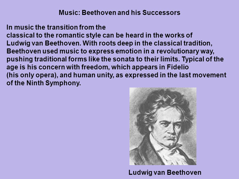 Music: Beethoven and his Successors
