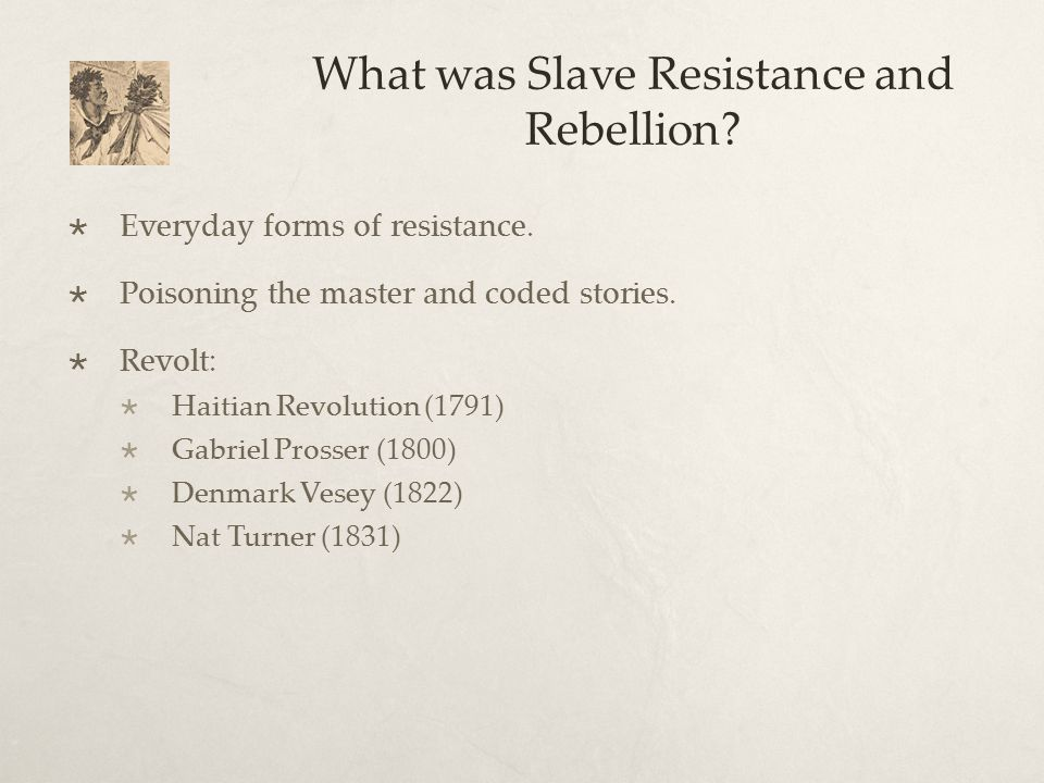 What was Slave Resistance and Rebellion