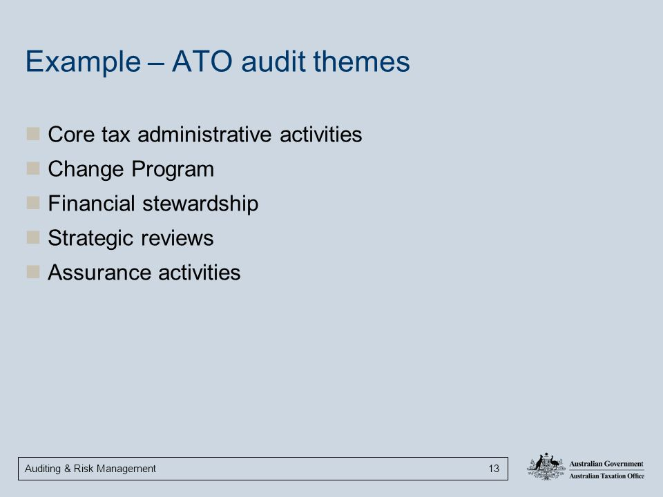 Example – ATO audit themes