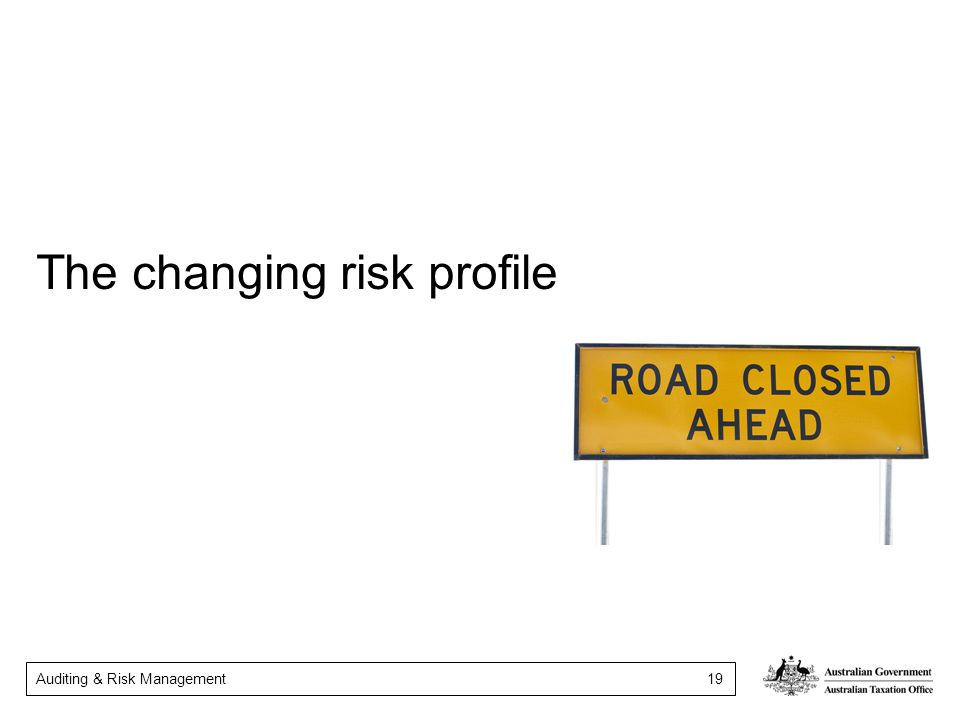 The changing risk profile