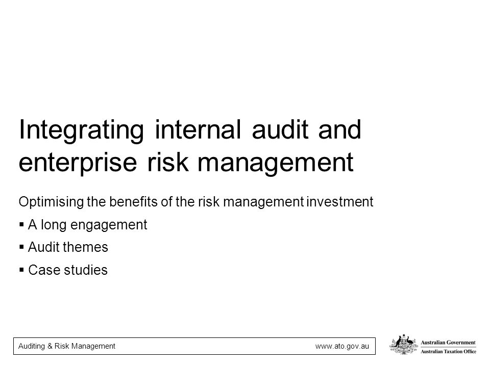 Integrating internal audit and enterprise risk management