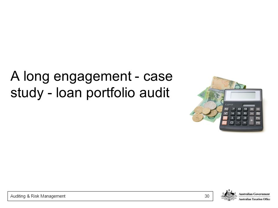A long engagement - case study - loan portfolio audit
