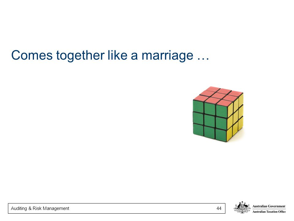 Comes together like a marriage …