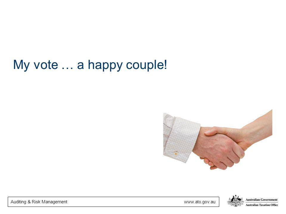 My vote … a happy couple!