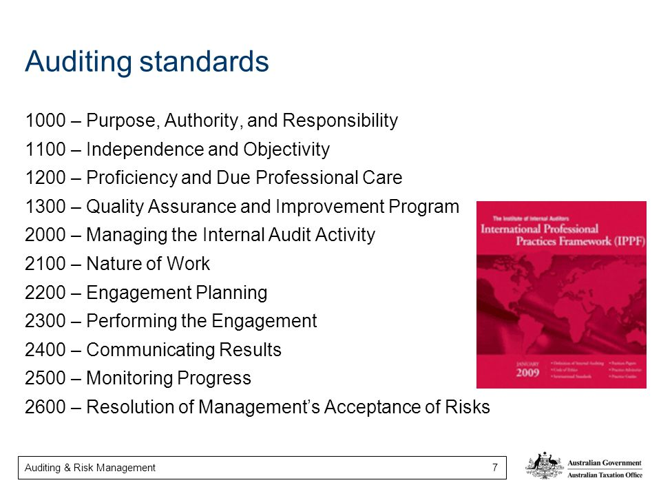Auditing standards 1000 – Purpose, Authority, and Responsibility