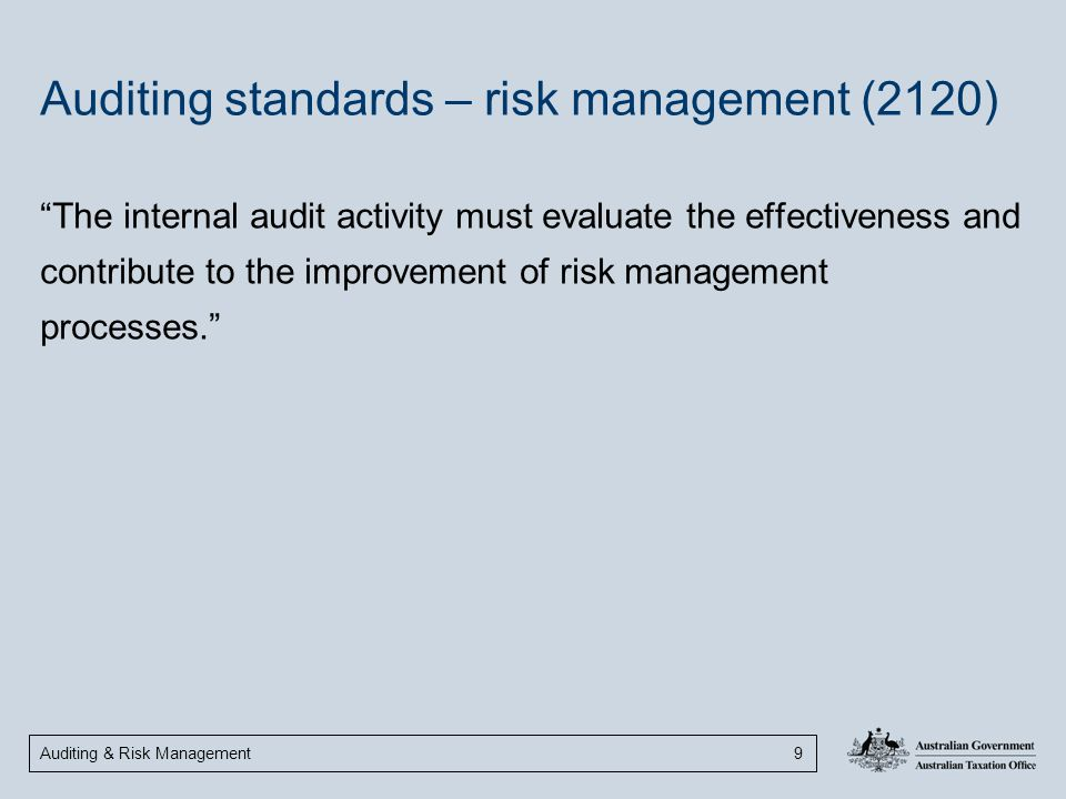 Auditing standards – risk management (2120)