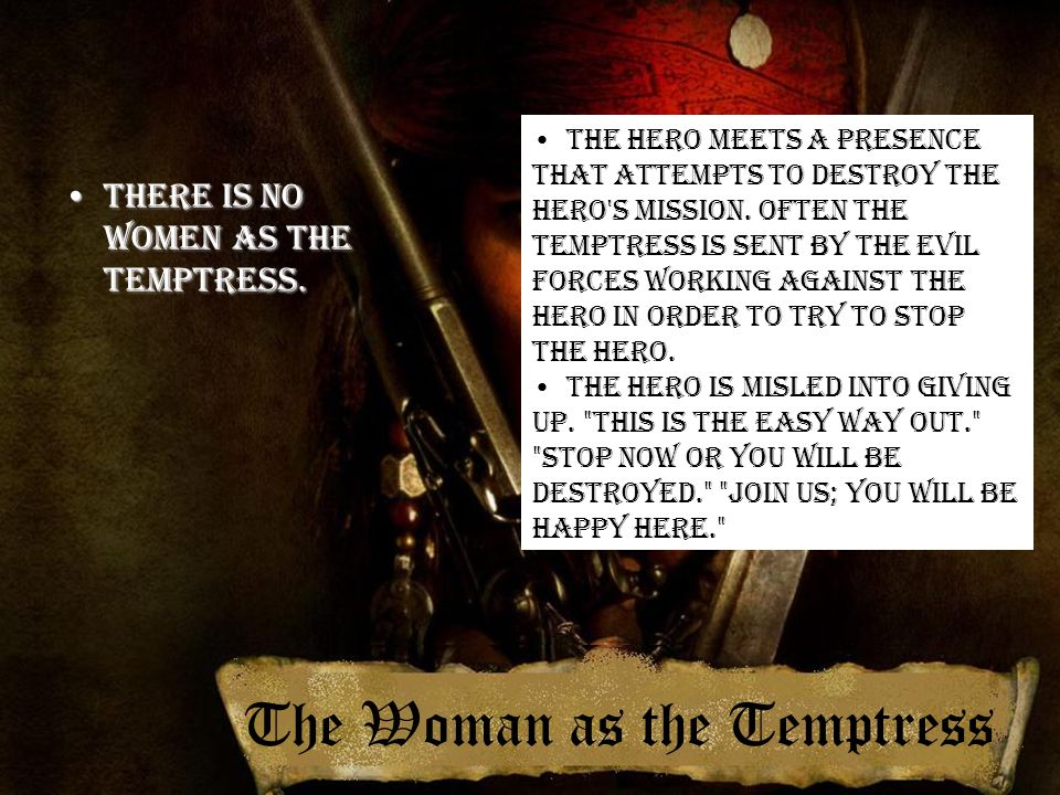 The Woman as the Temptress