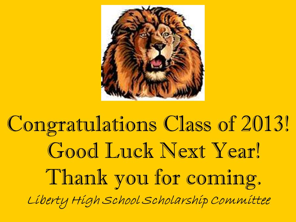 Liberty High School Scholarship Committee