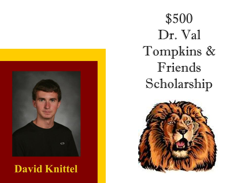 Dr. Val Tompkins & Friends Scholarship