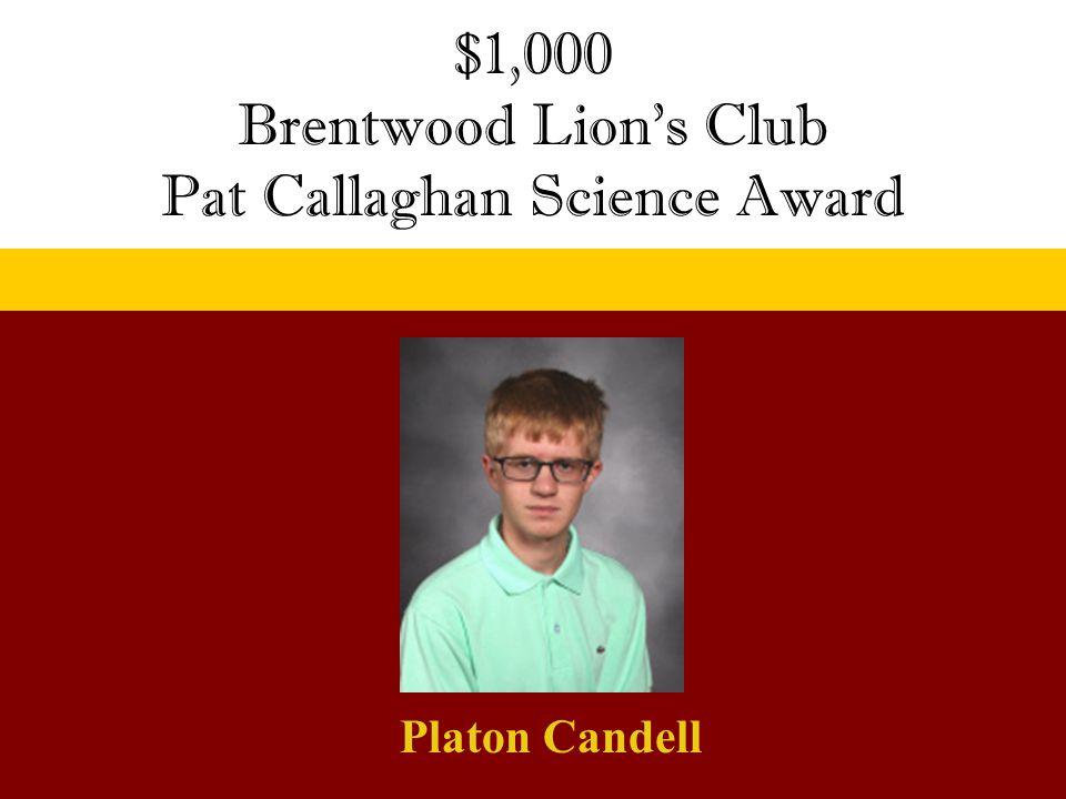 Pat Callaghan Science Award
