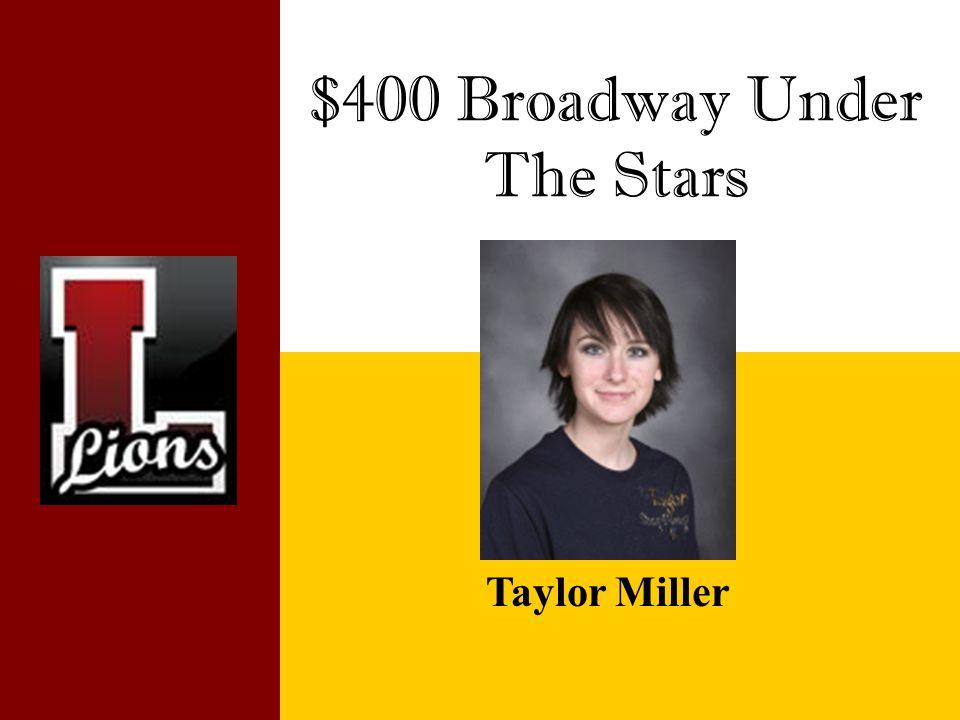$400 Broadway Under The Stars