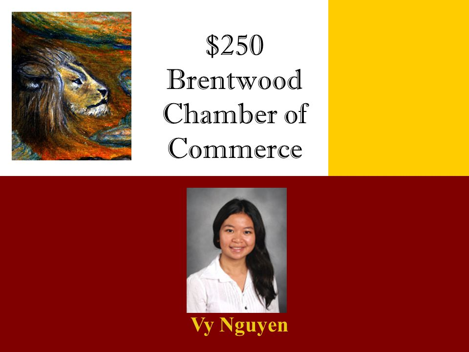 $250 Brentwood Chamber of Commerce Vy Nguyen