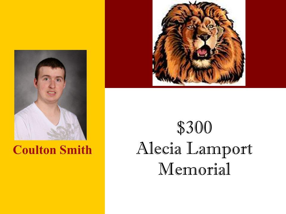 Alecia Lamport Memorial