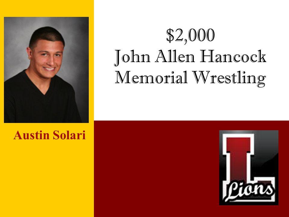 John Allen Hancock Memorial Wrestling