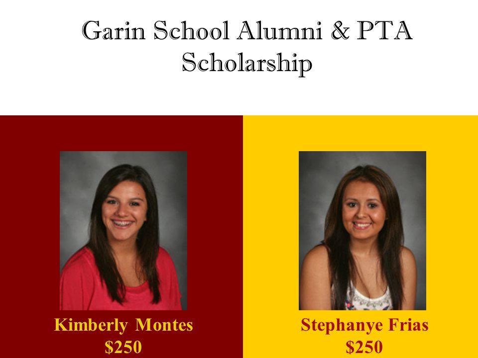 Garin School Alumni & PTA Scholarship