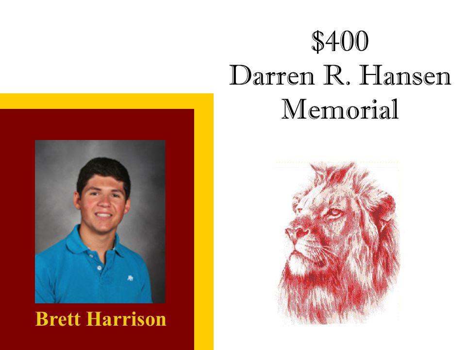 Darren R. Hansen Memorial