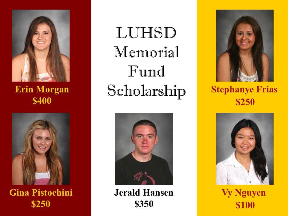 LUHSD Memorial Fund Scholarship