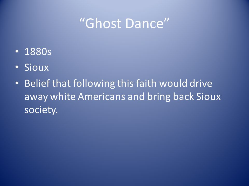 Ghost Dance 1880s. Sioux.