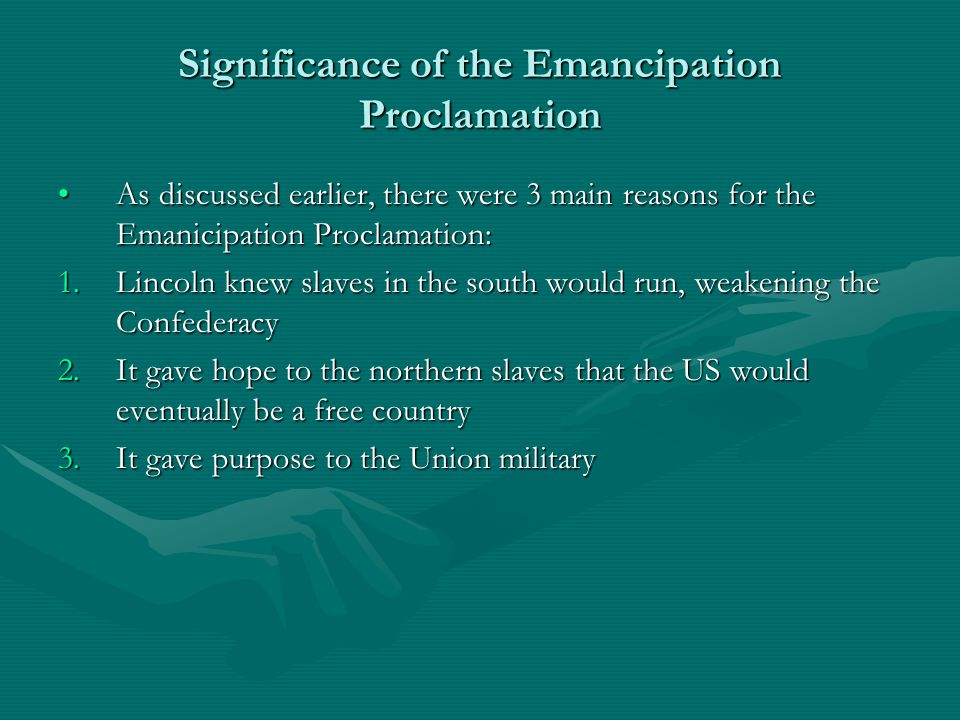 Significance of the Emancipation Proclamation