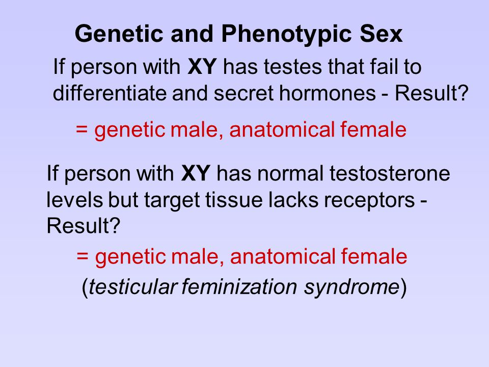 Genetic and Phenotypic Sex