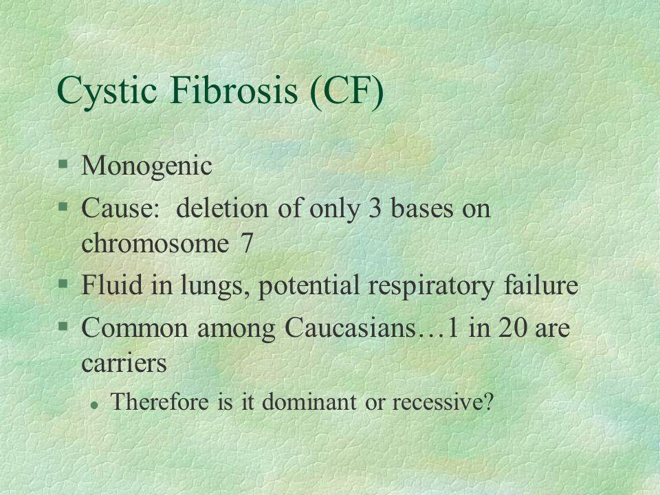 Cystic Fibrosis (CF) Monogenic