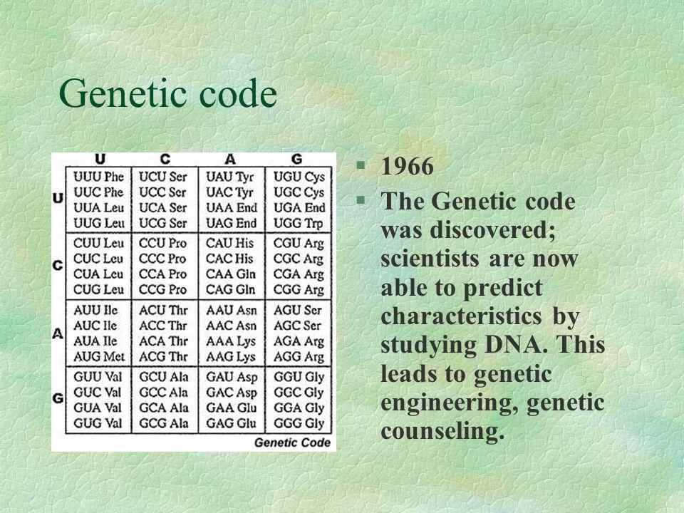 Genetic code 1966.