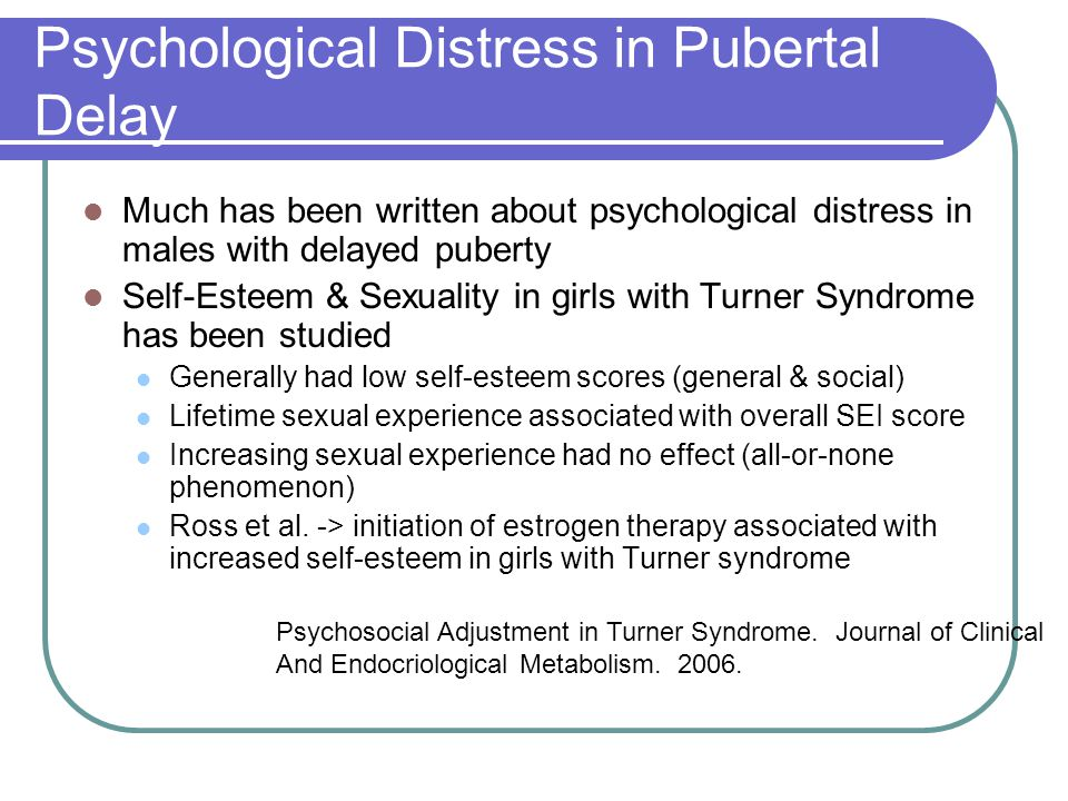 Psychological Distress in Pubertal Delay