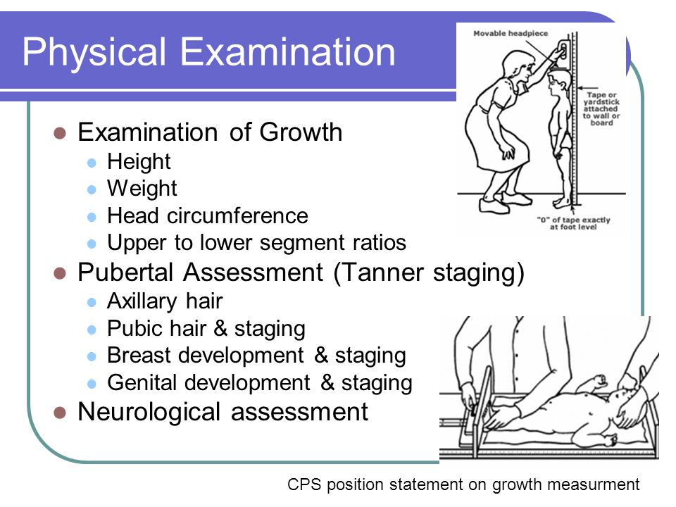 Physical Examination Examination of Growth