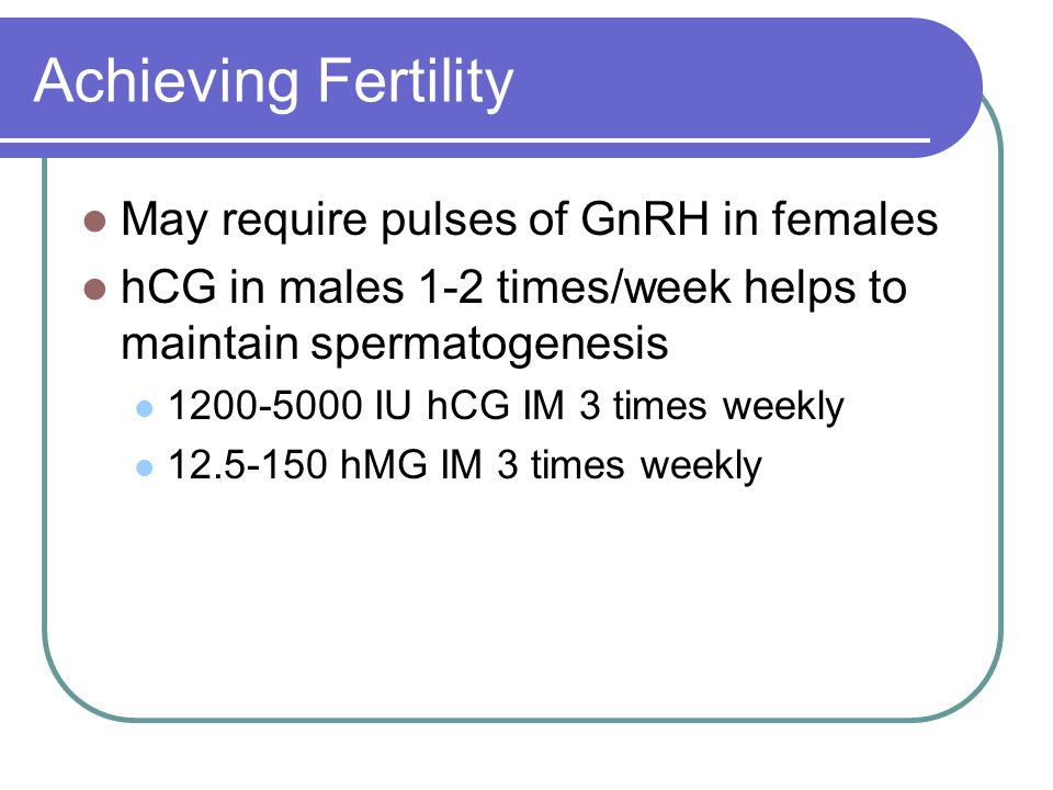 Achieving Fertility May require pulses of GnRH in females