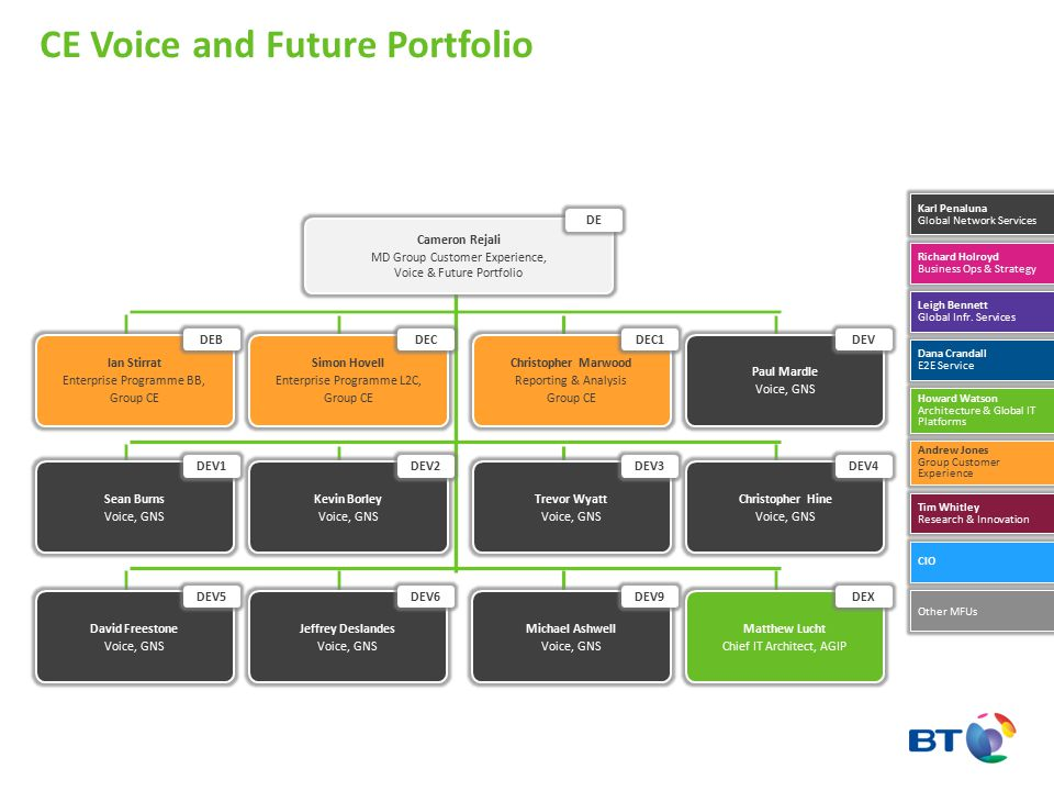 CE Voice and Future Portfolio