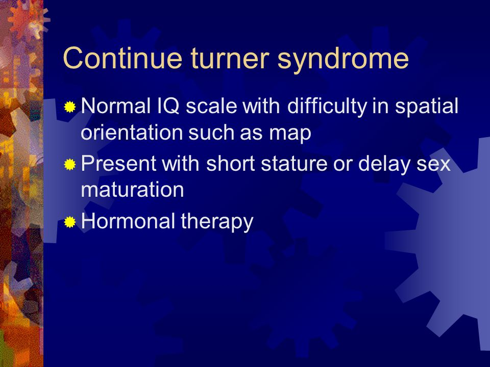 Continue turner syndrome