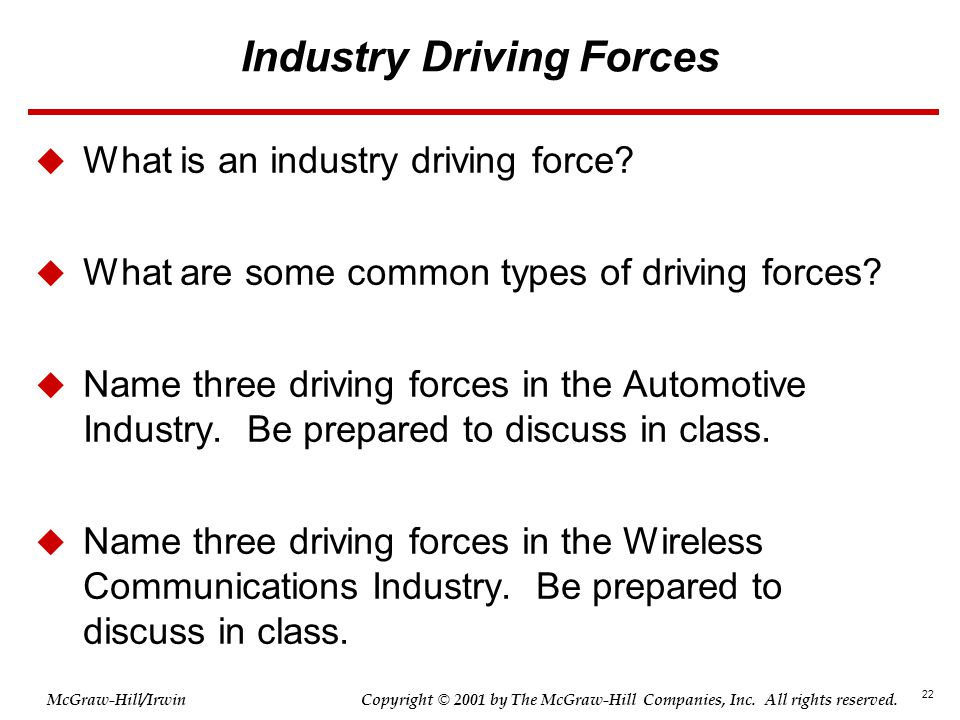 Industry Driving Forces