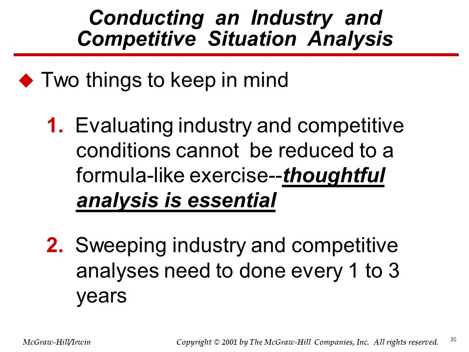 Conducting an Industry and Competitive Situation Analysis