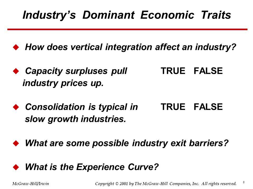 Industry's Dominant Economic Traits