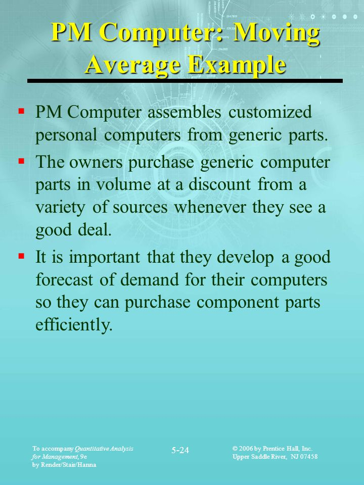 PM Computer: Moving Average Example