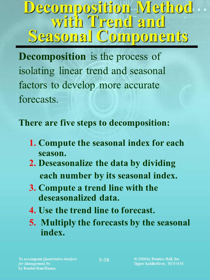 Decomposition Method with Trend and Seasonal Components