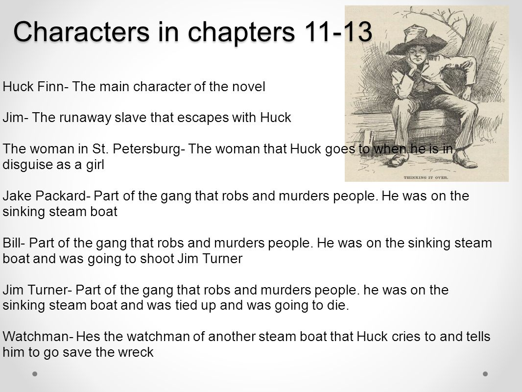 Characters in chapters 11-13