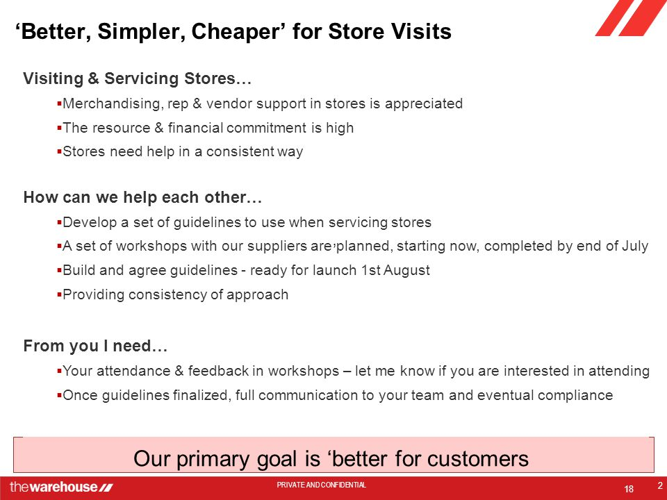 'Better, Simpler, Cheaper' for Store Visits