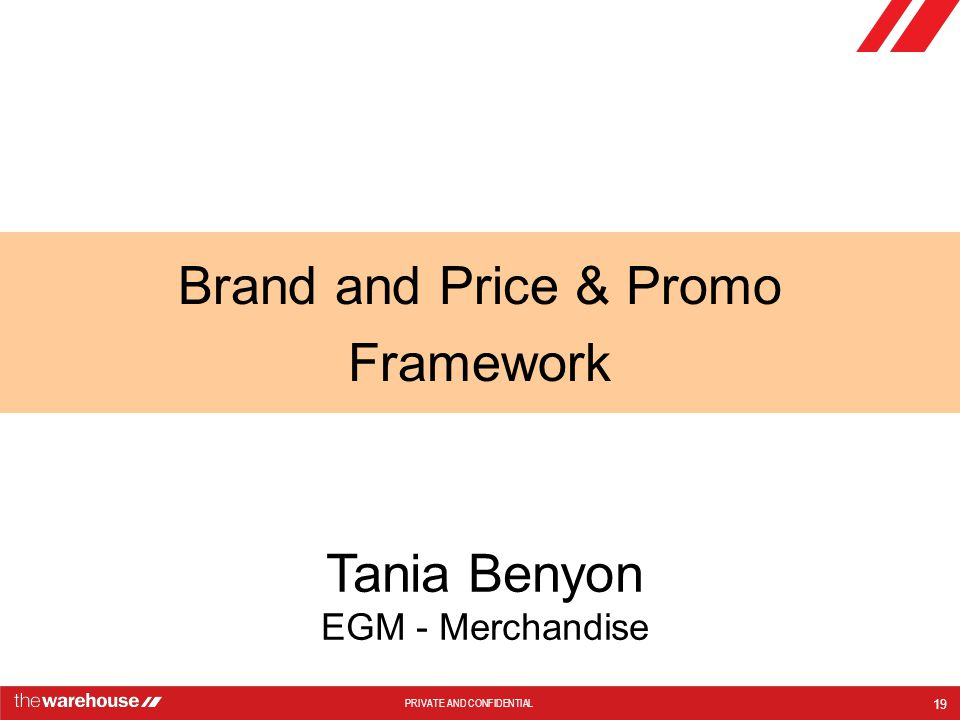 Brand and Price & Promo Framework