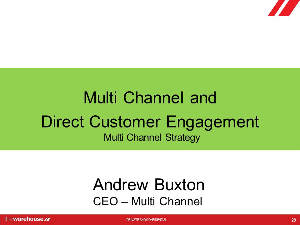 Multi Channel and Direct Customer Engagement
